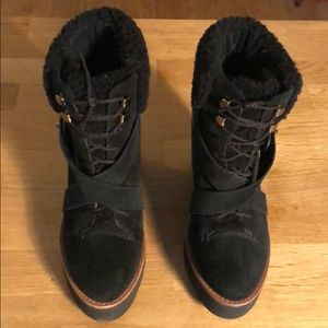 Coach Wedge Shearling Boots